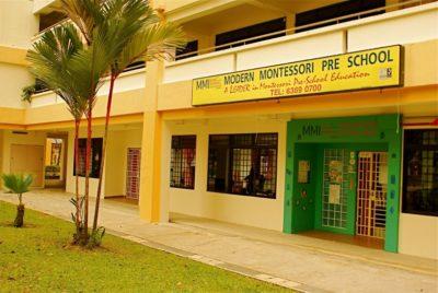 Yellow Colors builiding of Preschool
